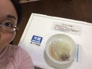 無事に刺身が完成し、安堵する私。早くチューブしょうが買ってこないと食べられん…。