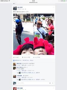 同じ時間帯の澁谷さんの投稿。左側の写真はすぐ上の見切れのときですね…!!
