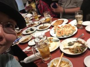 その時の見切れ写真ミニ講座で撮った1枚。中華の美味しそうなのが伝わりますか?